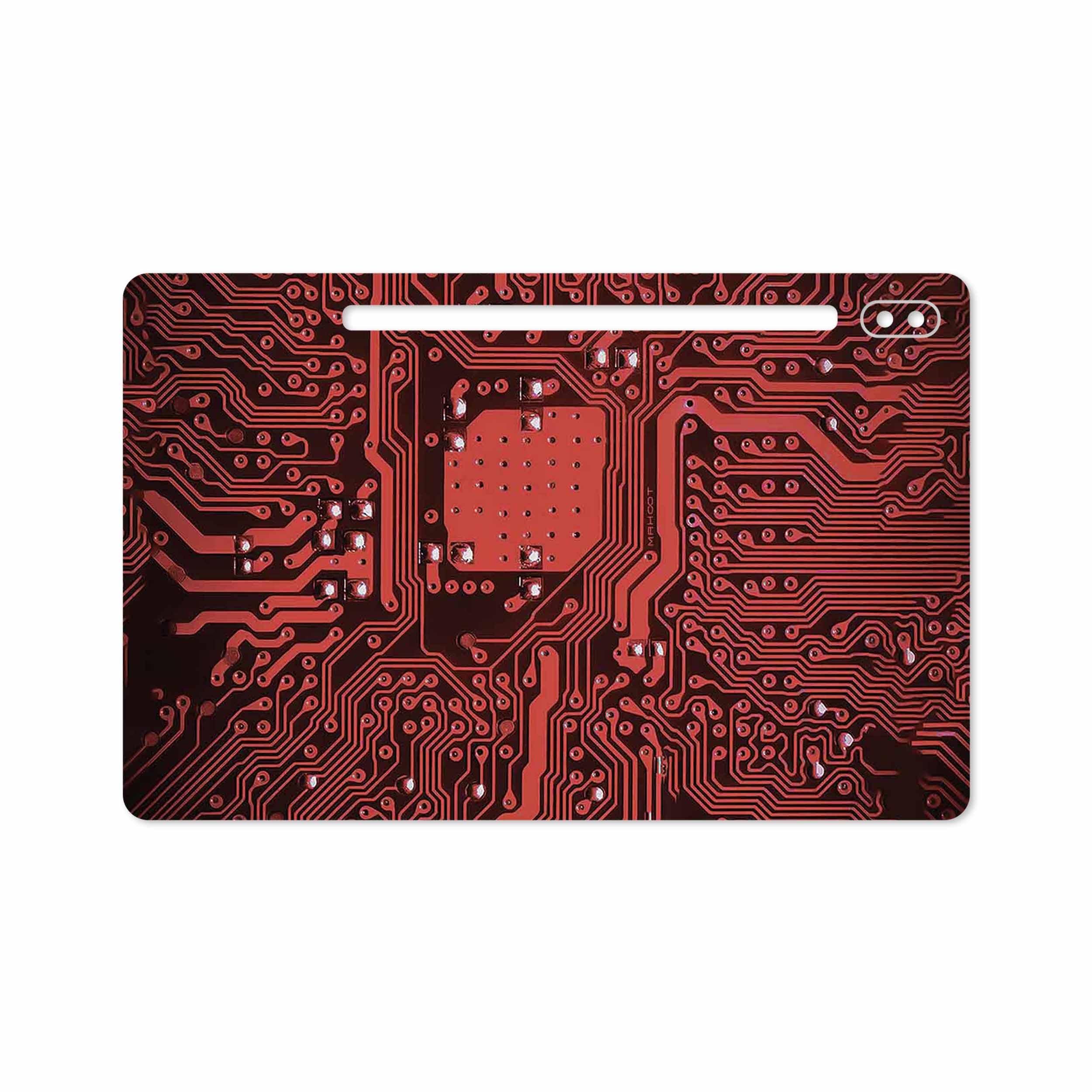 بررسی و خرید [با تخفیف]                                     برچسب پوششی ماهوت مدل Red Printed Circuit Board مناسب برای تبلت سامسونگ Galaxy Tab S6 2019 SM-T860                             اورجینال