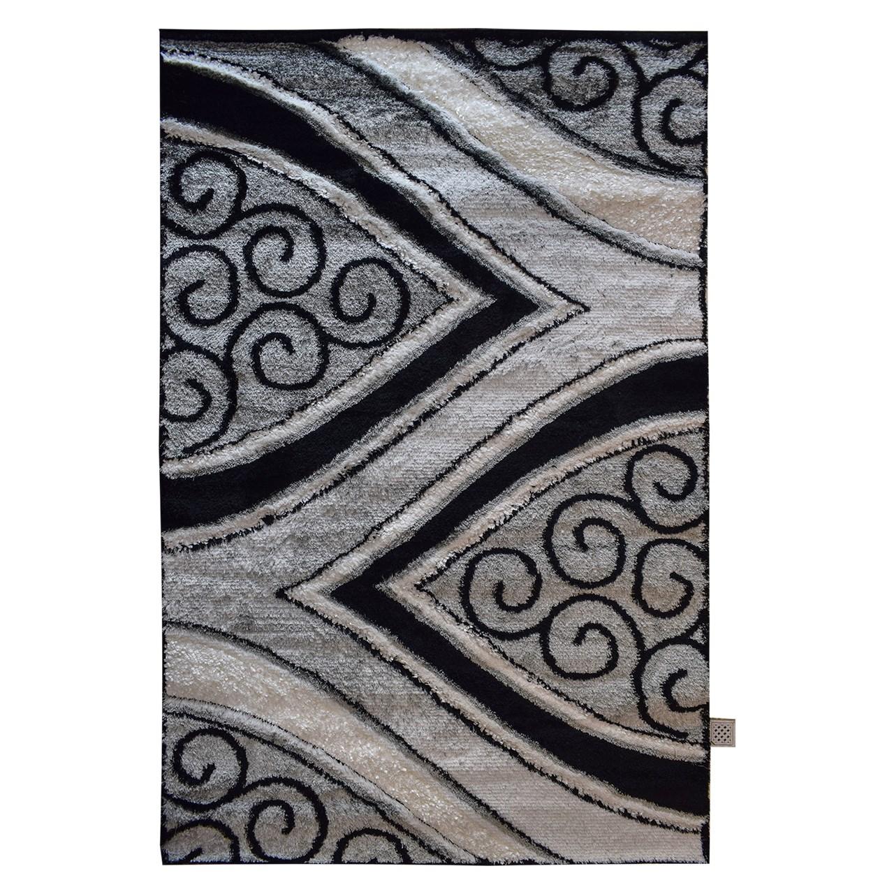 فرش ماشینی پاتریس طرح شگی کد 0126  زمینه الوان
