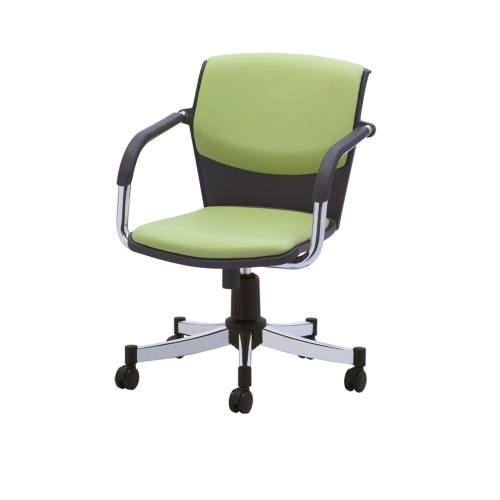صندلی اداری رایانه صنعت مدل Makan P714 چرمی