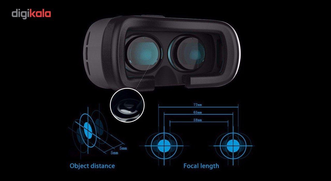 هدست واقعیت مجازی وی آر باکس مدل VR Box 2 به همراه ریموت کنترل بلوتوث و DVD  حاوی اپلیکیشن و باتری main 1 9
