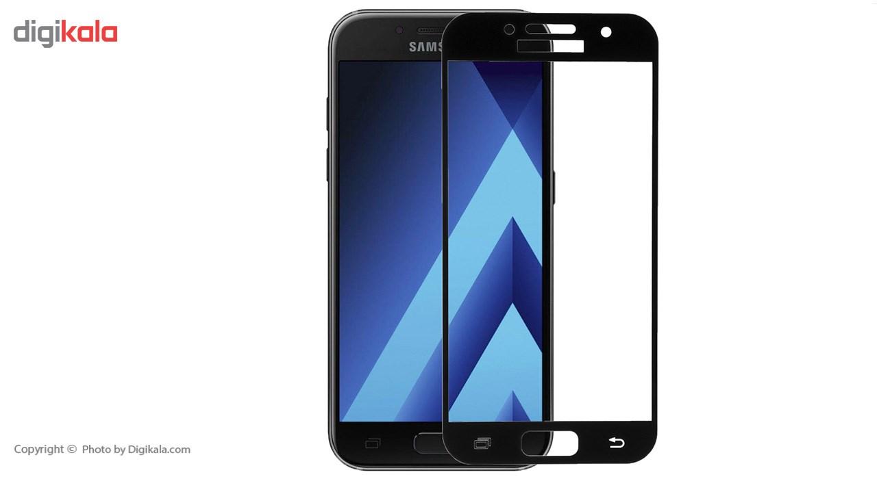 محافظ صفحه نمایش شیشه ای ریمکس مدل Full Cover مناسب برای گوشی موبایل  سامسونگ Galaxy A3 2017 main 1 2