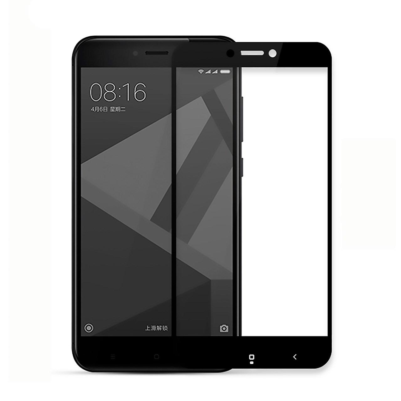 محافظ صفحه نمایش شیشه ای تمپرد مدل Full Cover مناسب برای گوشی موبایل Xiaomi Redmi 4X
