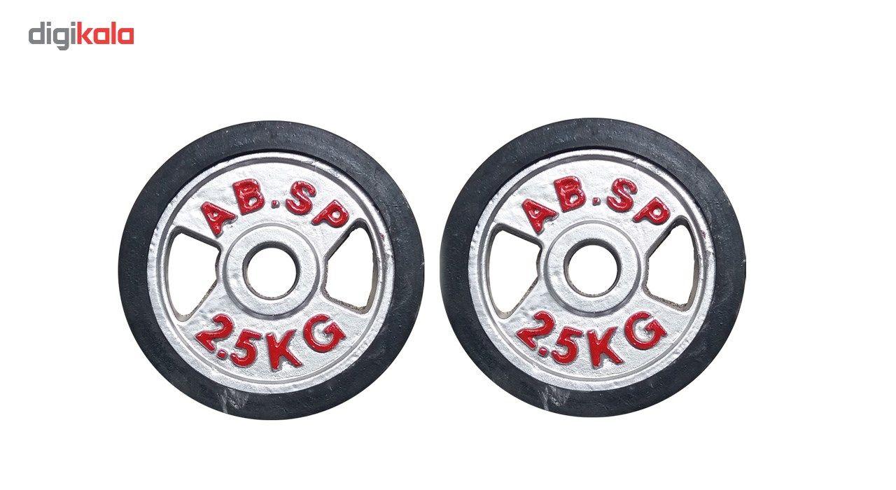 وزنه هالتر مدل E2.5 وزن 2.5 کیلوگرم بسته دو عددی main 1 1