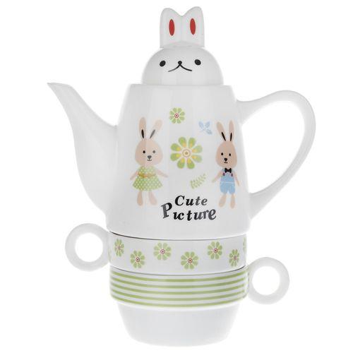 سرویس چای خوری 4 پارچه فشن اند بیوتی مدل Rabbit