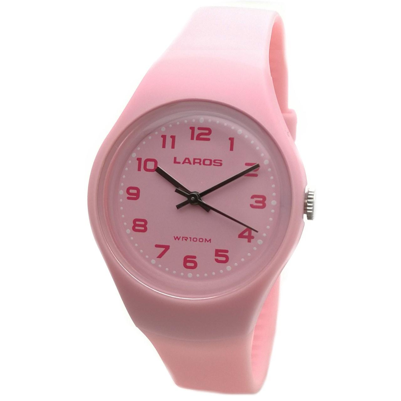 ساعت مچی عقربه ای زنانه لاروس مدل LC-A300-Pink 10