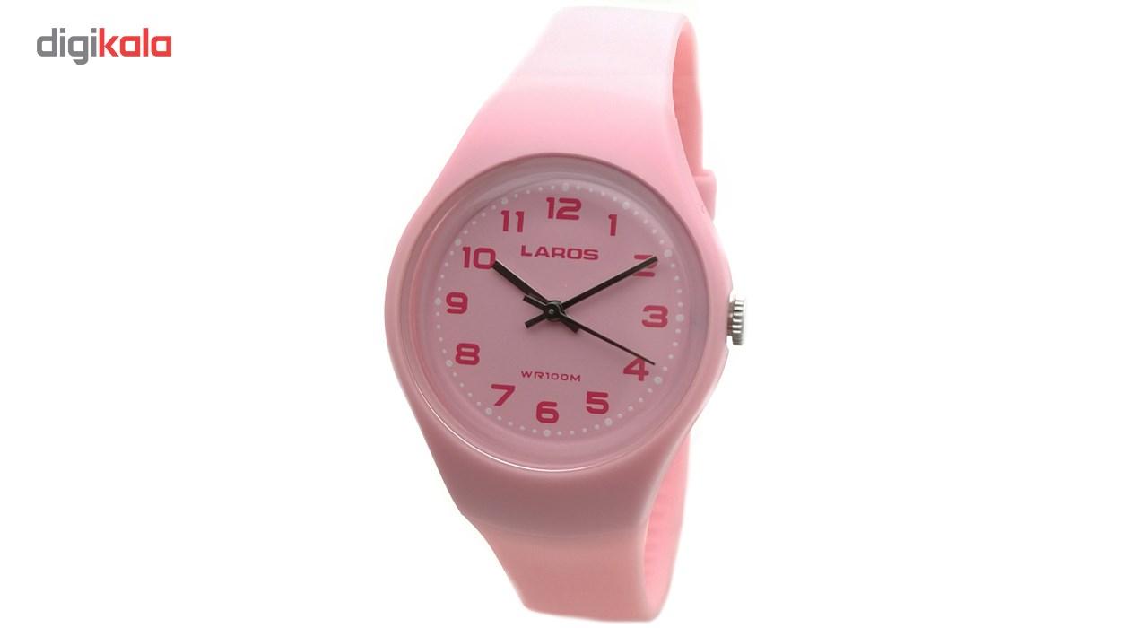 خرید ساعت مچی عقربه ای زنانه لاروس مدل LC-A300-Pink