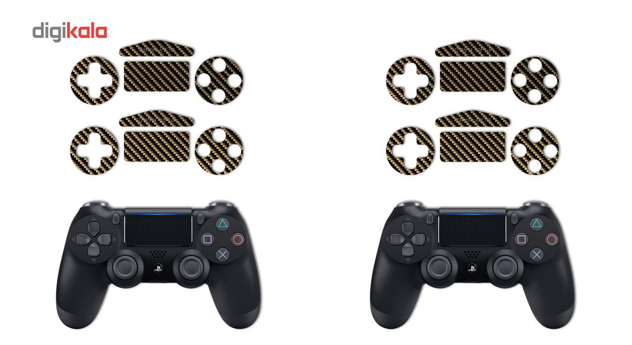 برچسب ماهوت مدل Brown Shine-carbon Special  مناسب برای کنسول بازی PS4 Pro