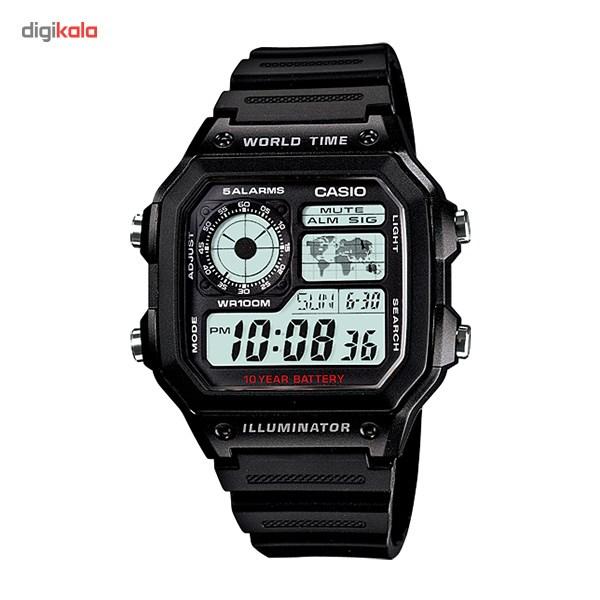 ساعت مچی دیجیتالی کاسیو AE-1200WH-1AVDF