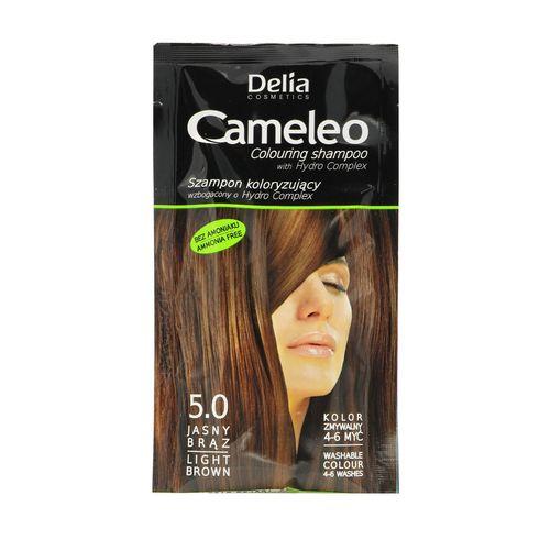 کیت شامپو رنگ مو کاملیو کد 5.0 حجم 40 میلی لیتر