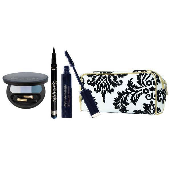 پک آرایشی چشم اتق بل مدل 11 مجموعه سه عددی به همراه کیف لوازم آرایش