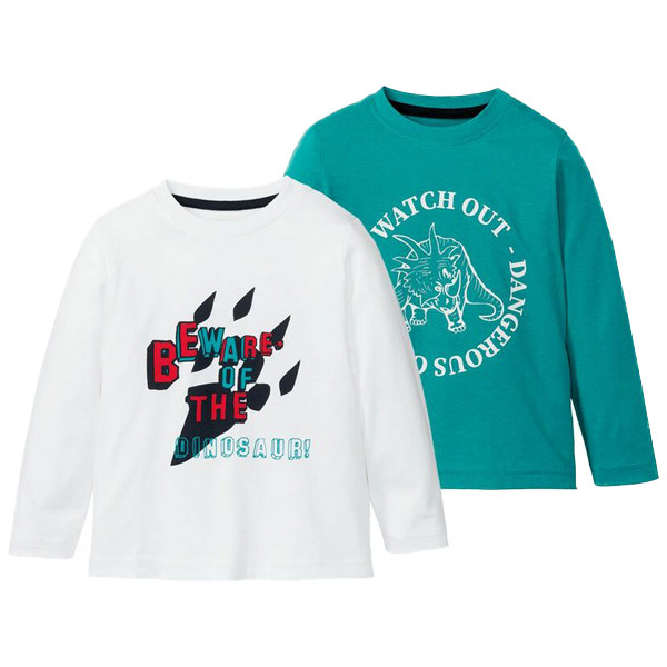 تی شرت آستین بلند پسرانه لوپیلو مدل IAN-313736 مجموعه 2 عددی