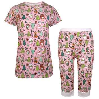 ست تی شرت و شلوارک زنانه ماییلدا مدل 3586-7