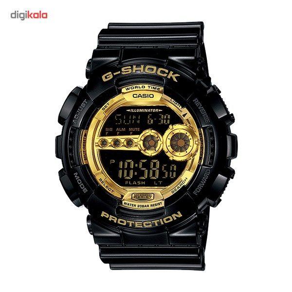 ساعت مچی دیجیتالی مردانه کاسیو جی شاک GD-100GB-1DR  Casio G-Shock GD-100GB-1DR