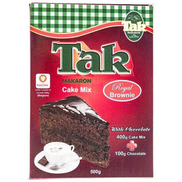 پودر کیک رویال براونی تک ماکارون مقدار 500 گرم