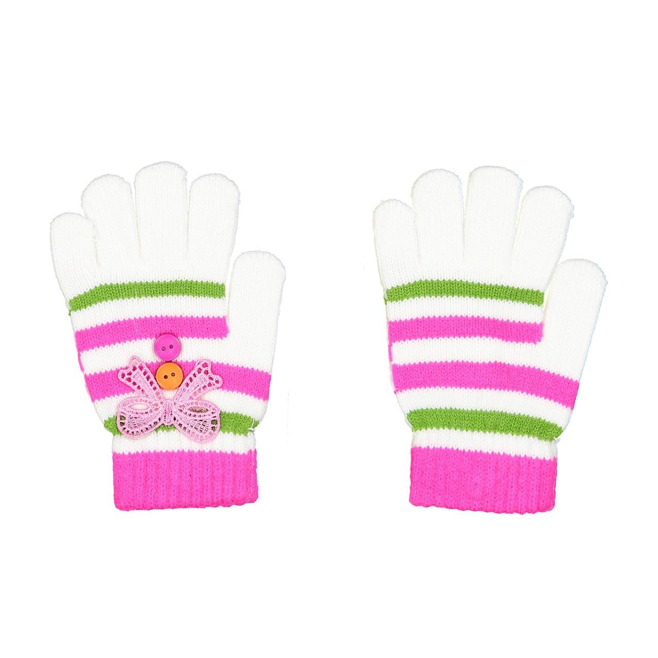 دستکش دخترانه پی جامه مدل 2-301 مناسب برای 4 تا 7 سال