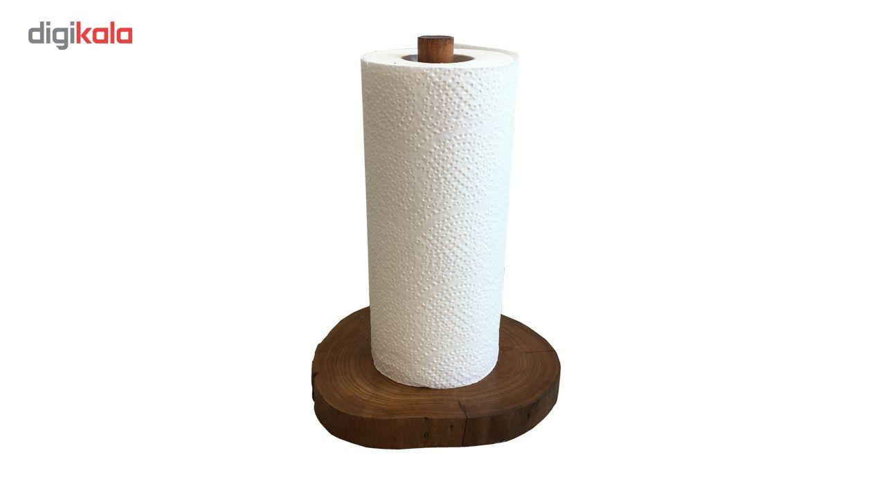 پایه رول دستمال کاغذی  آرونی چوب طرح روستیک  مدل SHOKA main 1 4