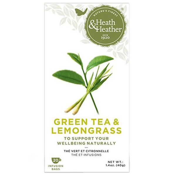 بسته دمنوش هیت و هیتر مدل Green Tea And Lemongrass