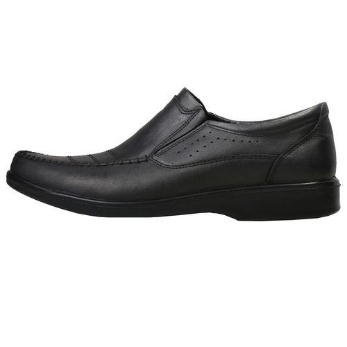 کفش چرمی ترن مدل لایتر کشی مشکی کد 2001