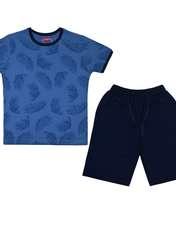 ست تی شرت و شلوارک پسرانه الیت مدل 1-669 -  - 1