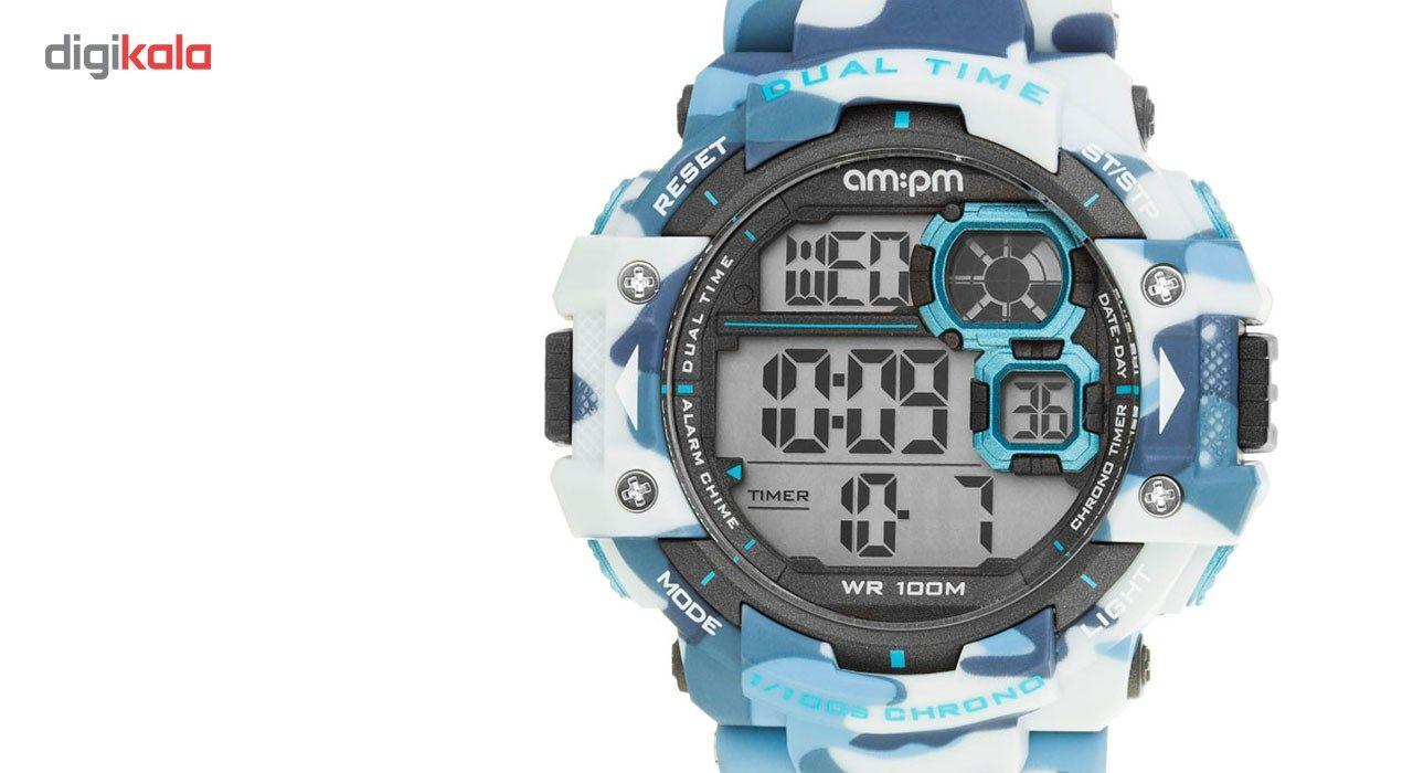 ساعت مچی دیجیتالی مردانه ای ام:پی ام مدل PC162-G391 - ای ام پی ام -  - 1