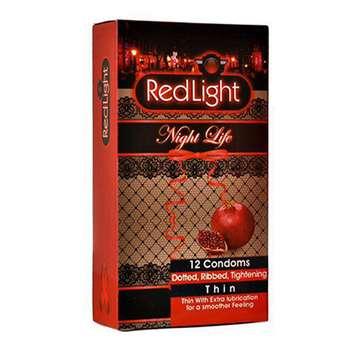 کاندوم ردلایت مدل Night Life بسته 12 عددی