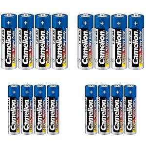 باتری قلمی و نیم قلمی کملیون مدل Super Heavy Duty بسته 16 عددی