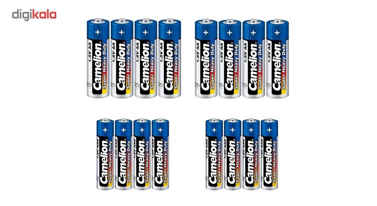 باتری قلمی و نیم قلمی کملیون مدل Super Heavy Duty بسته 16 عددی main 1 1