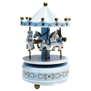 ماکت موزیکال طرح چرخ و فلک آبی مدل P306