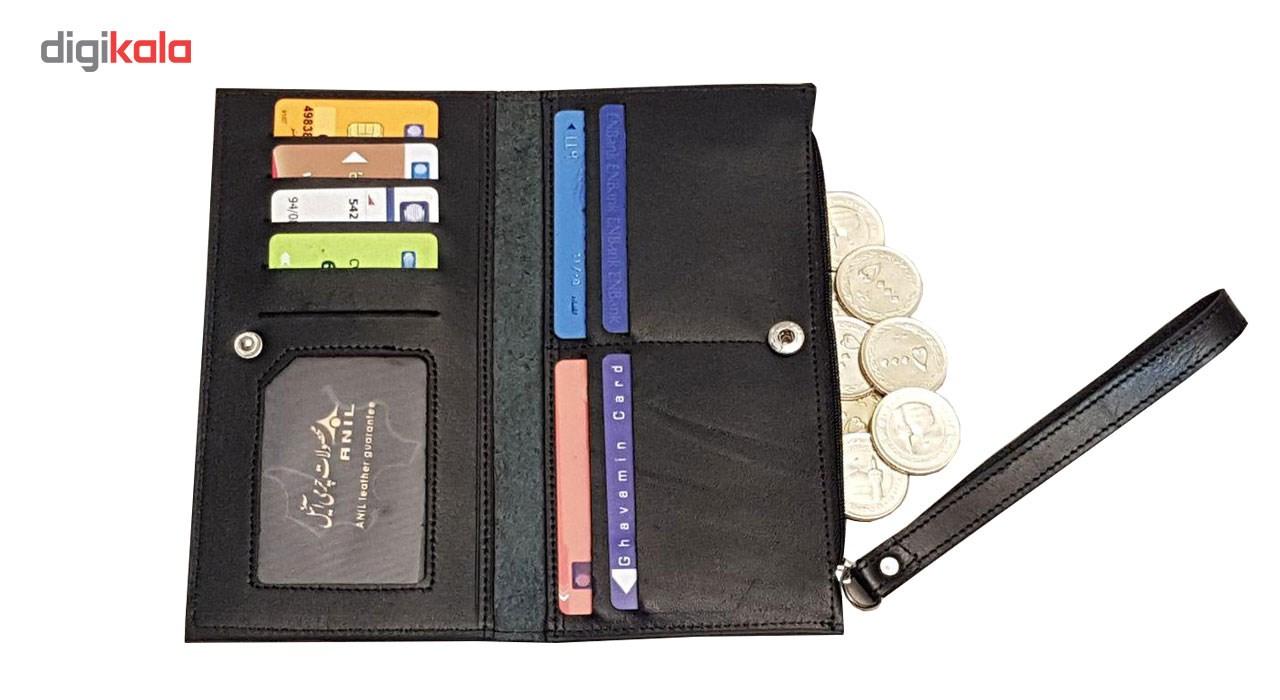 کیف پول و موبایل چرم آنیل رایان