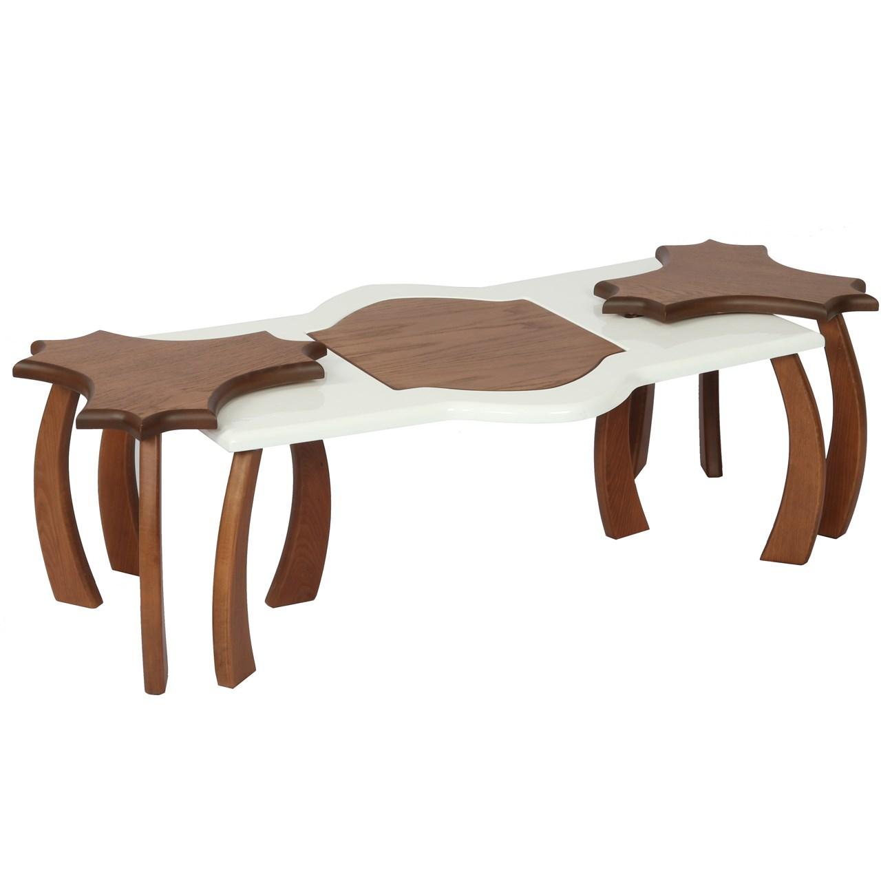 میز جلو مبلی سهیل کد Aryana  به همراه دو میز عسلی