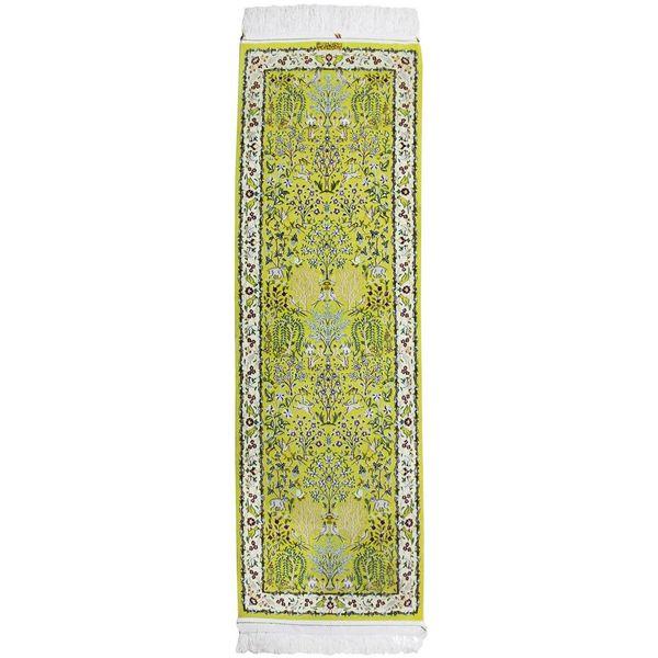 فرش دستبافت ابریشمی یک متری پهلوان صفایی کد 182032