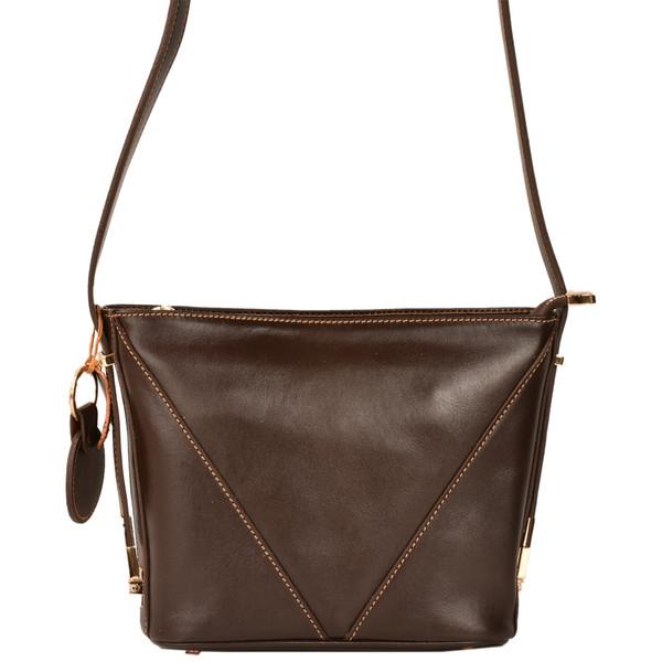کیف رو دوشی چرم طبیعی کهن چرم مدل V161-7