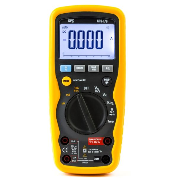 مولتی متر جی پی اس لیمیتد مدل GPS-176 پرتابل 3.5 دیجیت IP67