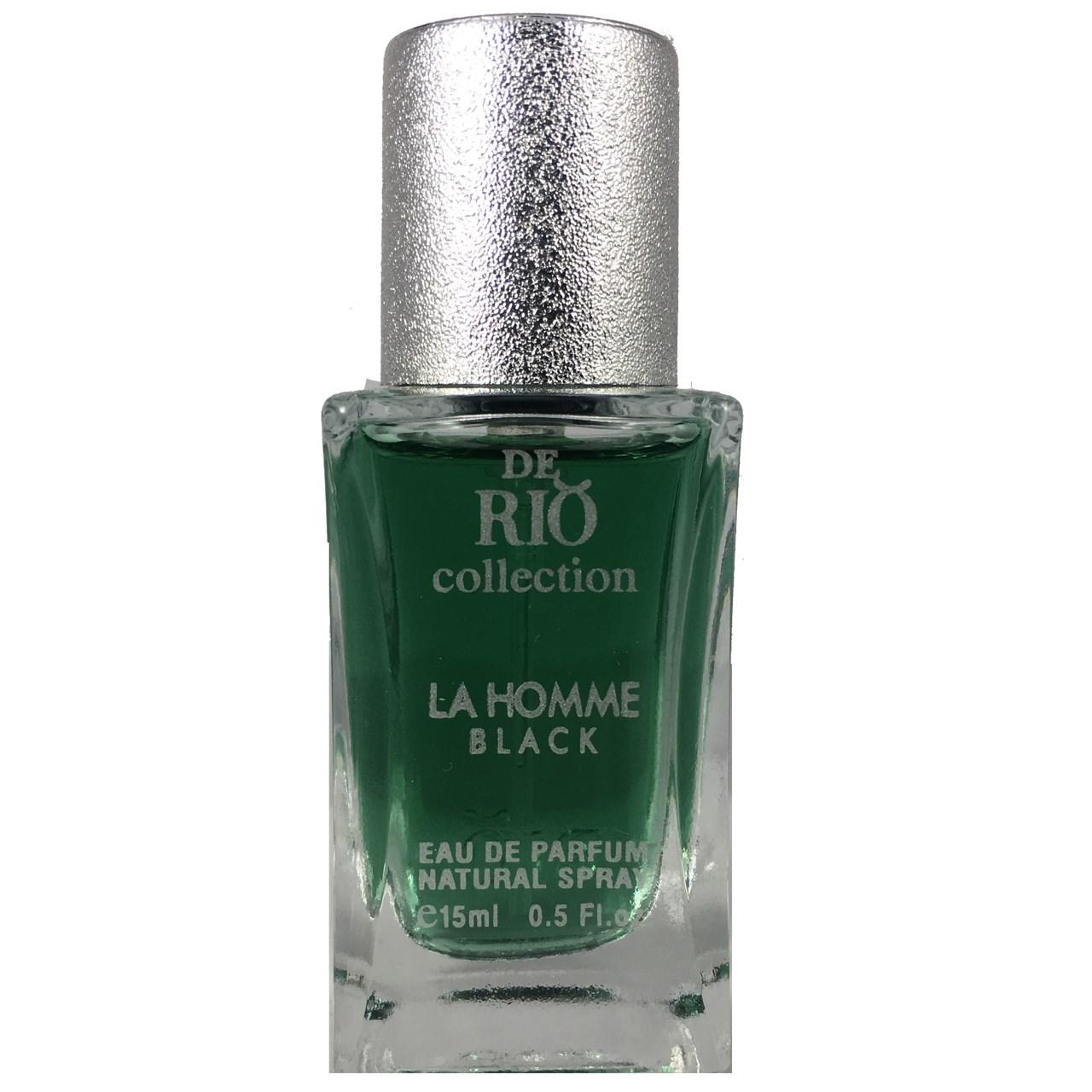 ادو پرفیوم مردانه زنانه ریو کالکشن مدلRio La Homme Black حجم 15ml