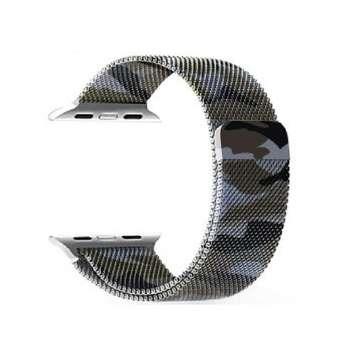 بند فلزی مدل Milanese ارتشی مناسب برای اپل واچ 42 میلی متری