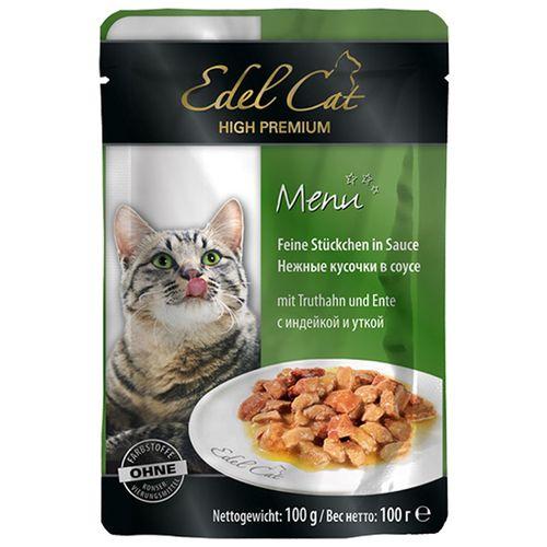 پوچ ایدل کت گربه محتوی گوشت بوقلمون و اردک در سس 100 گرمی