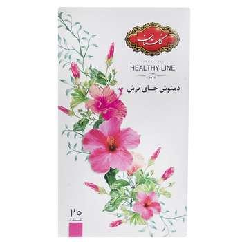 دمنوش کیسه ای چای ترش گلستان بسته 20 عددی