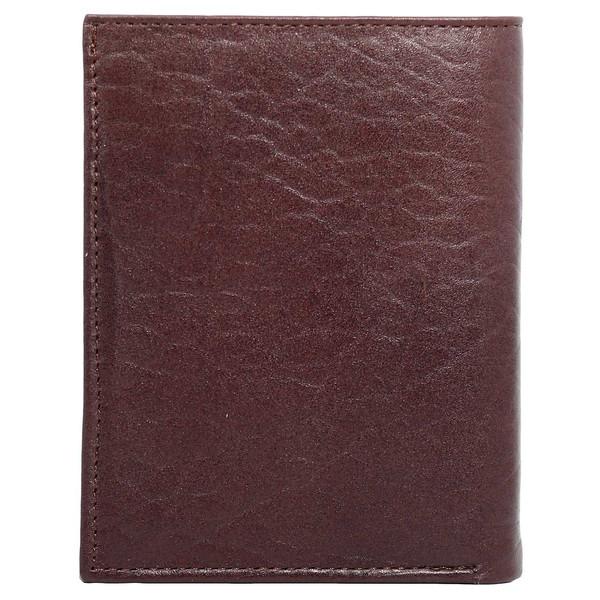 کیف پول نیم کتی چرم طبیعی چهارنظم مدل 20012Br2