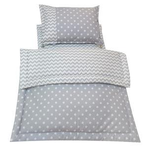 سرویس سه تکه خواب نوزادی آویراد طرح ستاره و زیگزاگ کد ASZ0005