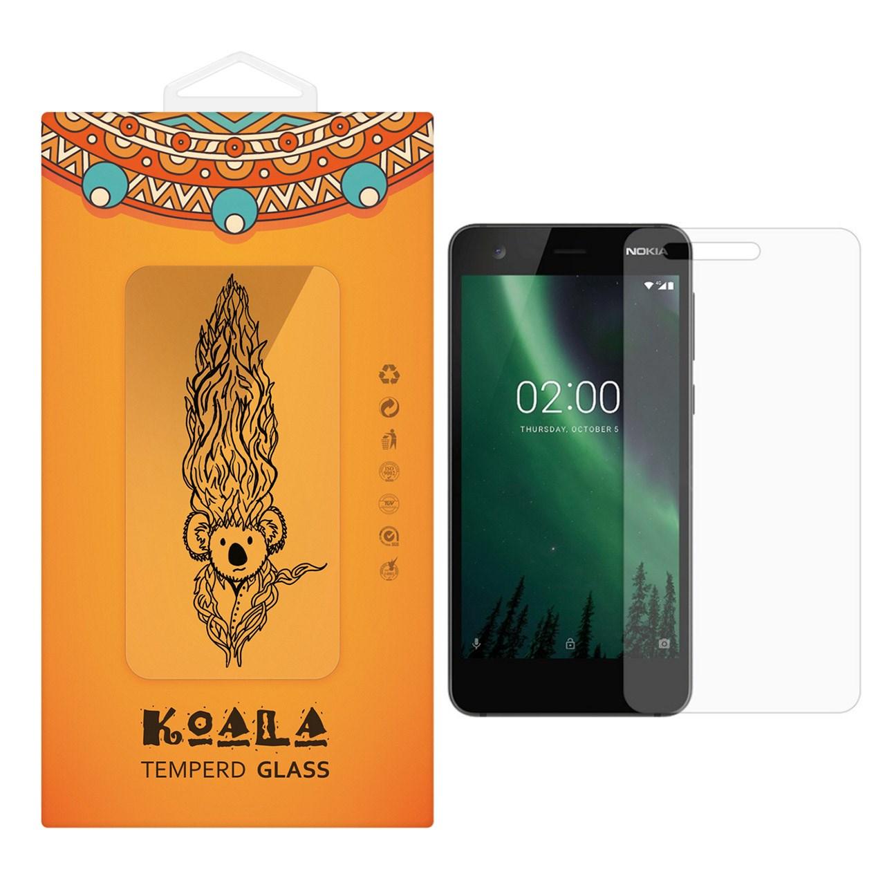 محافظ صفحه نمایش شیشه ای کوالا مدل Tempered مناسب برای گوشی موبایل نوکیا 2