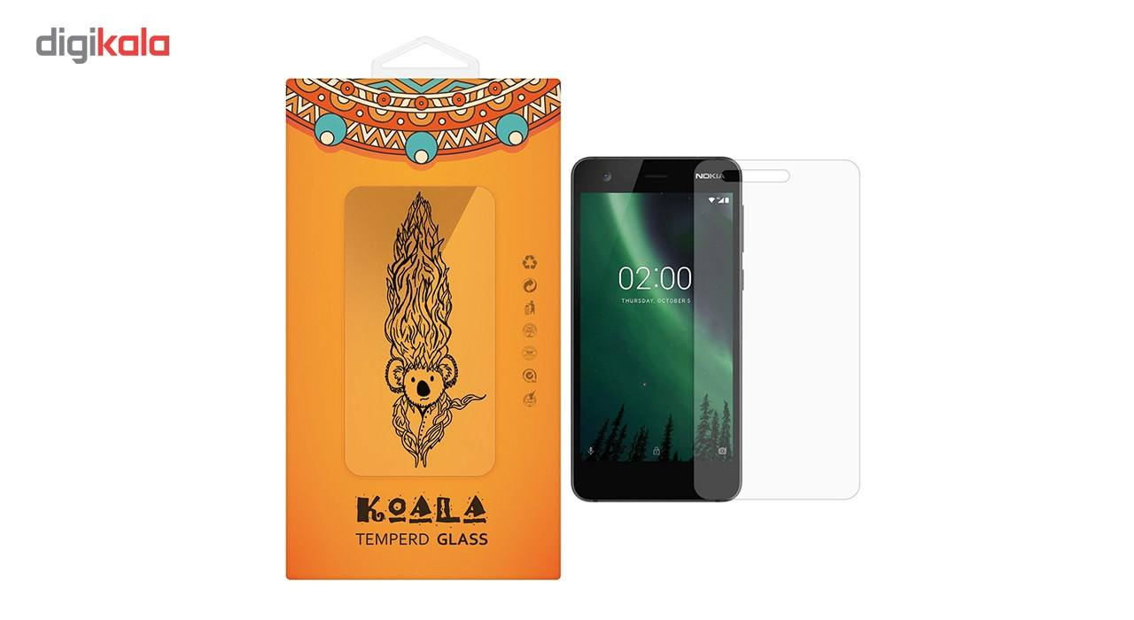محافظ صفحه نمایش شیشه ای کوالا مدل Tempered مناسب برای گوشی موبایل نوکیا 2 main 1 1