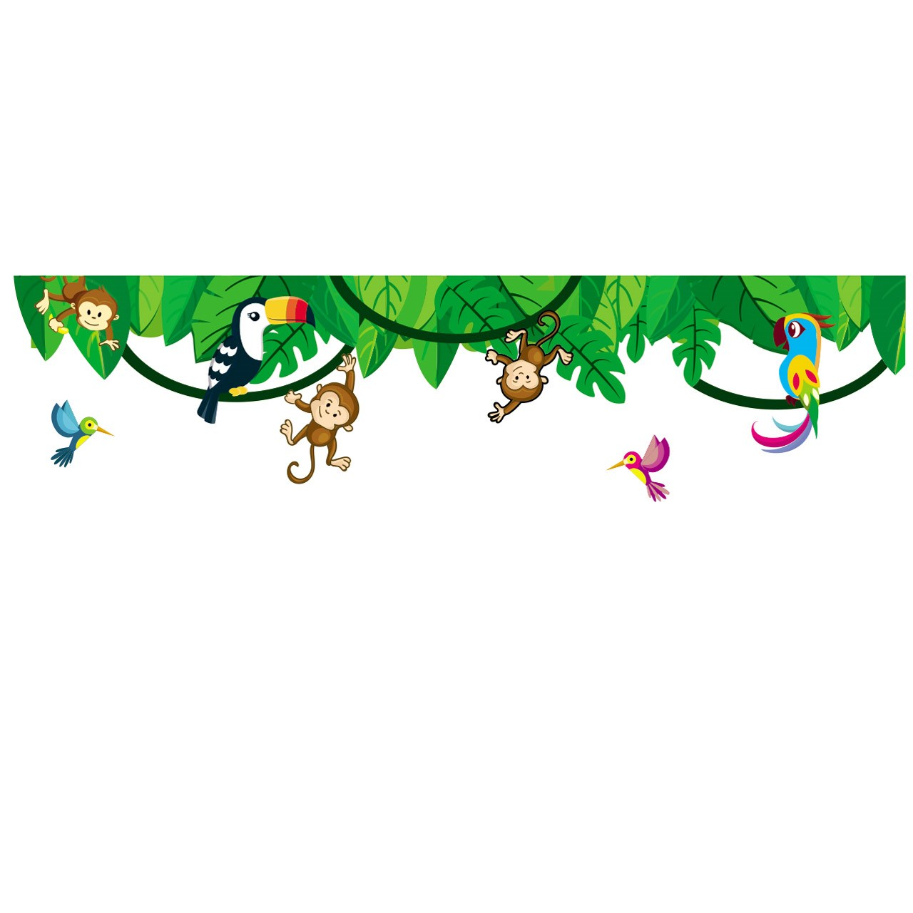 استیکر چوبی جیک جیک مدل جنگل آمازون