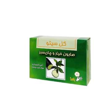 صابون شستشو گل سیتو مدل خیار و چای سبز وزن 100 گرم
