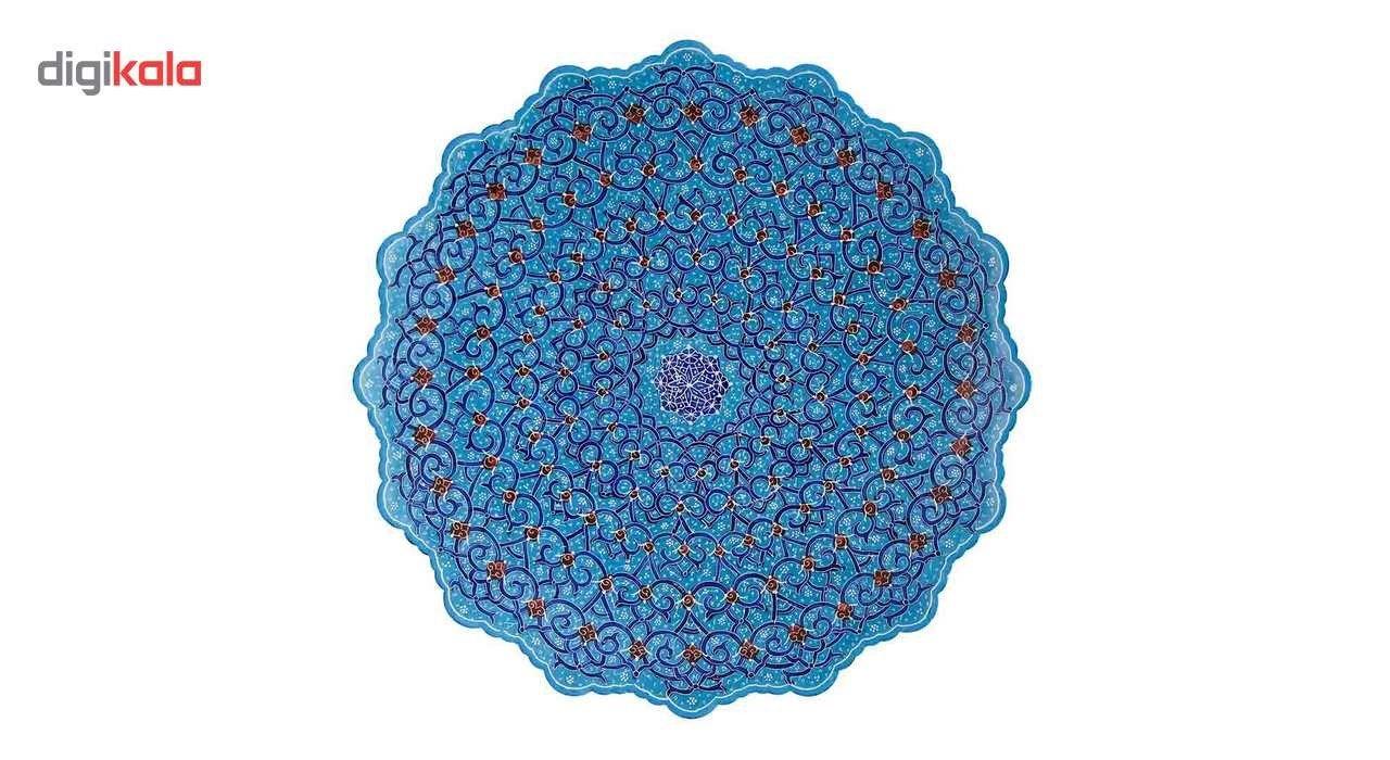 بشقاب میناکاری اثر ابوالقاسمی کد 170179