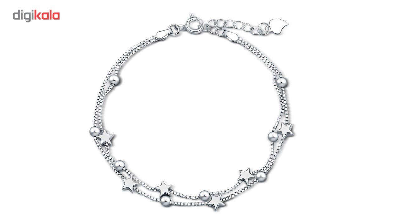 دستبند نقره شهر جواهر مدل SJ-BC023 -  - 3