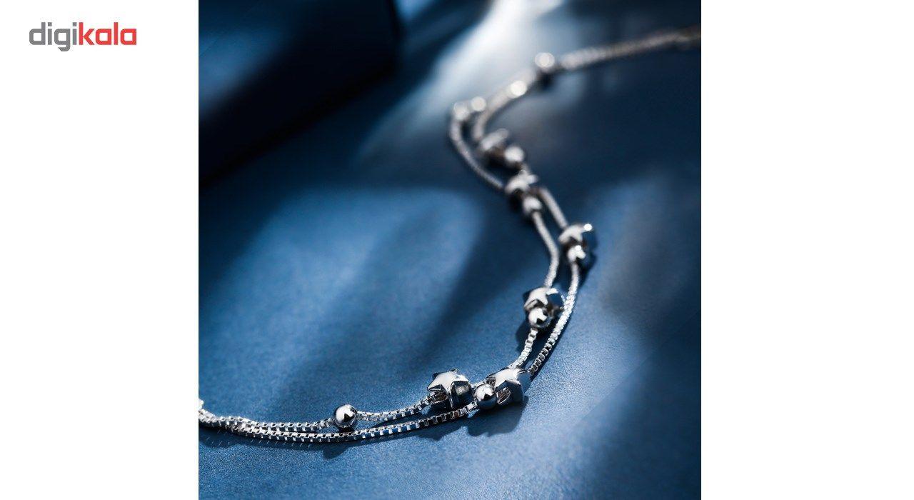 دستبند نقره شهر جواهر مدل SJ-BC023 -  - 5