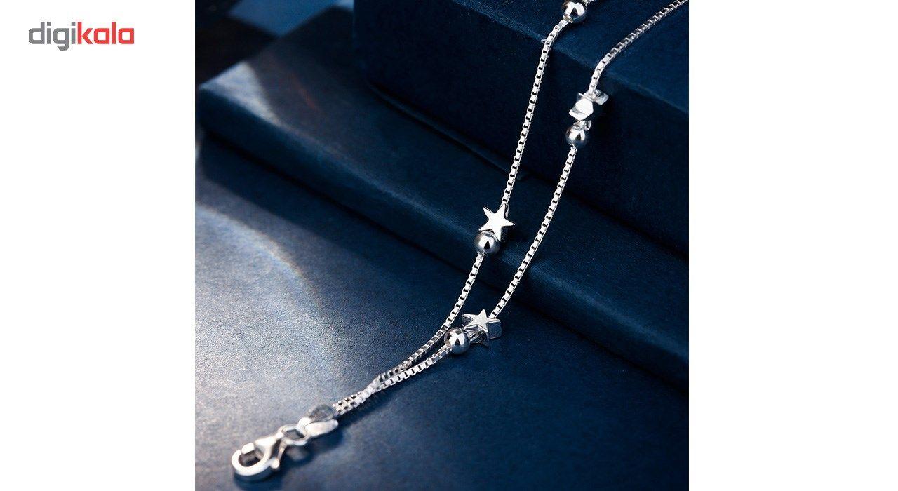 دستبند نقره شهر جواهر مدل SJ-BC023 -  - 4