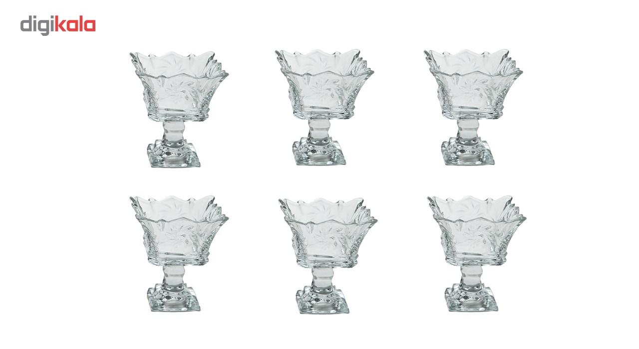 بستنی خوری بلور کاوه مدل Tandis بسته 6 عددی
