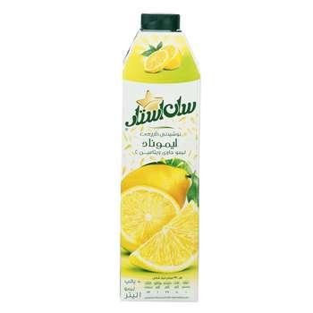 نوشیدنی پالپ دار لیموناد سان استار حجم 1 لیتر