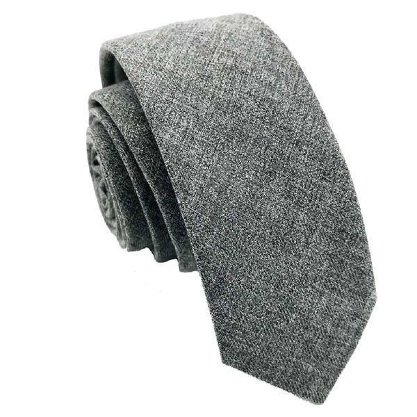 کراوات مردانه هکس ایران مدل KT-Gray01